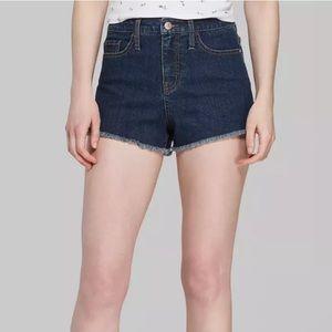Wild Fable High Rise Dark Wash Denim Shorts